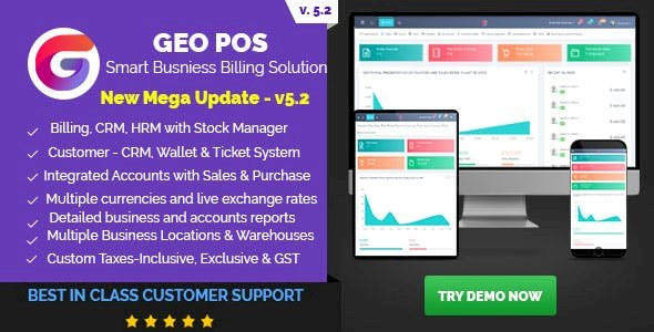 Geo POS v6.0 - Point of Sale, Billing and Stock Manager Application Pre-Installed
