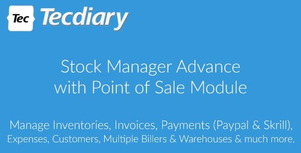 Stock Manager Advance with Point of Sale Module v3.4.35