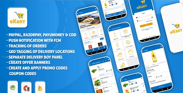 eCart v2.0.7 - Grocery, Food Delivery, Fruits & Vegetable store, Full Android Ecommerce App