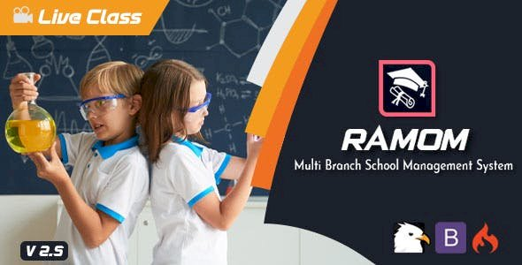 Ramom v2.5 - Multi Branch School Management System Pre-Installed