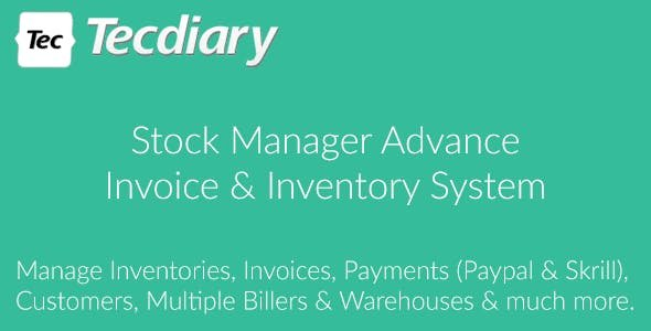 Stock Manager Advance  v3.4.40 - Invoice & Inventory System