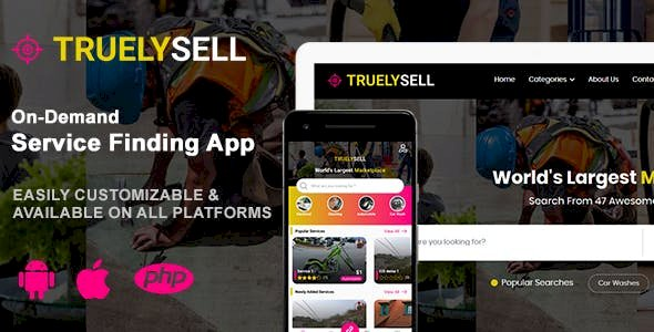 TruelySell v1.0.3 – On-demand Service Marketplace, nearby Service Finder and Bookings Web, Android and iOS