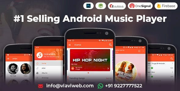 Android Music Player - Online MP3 (Songs) App 8-September-2019 Update