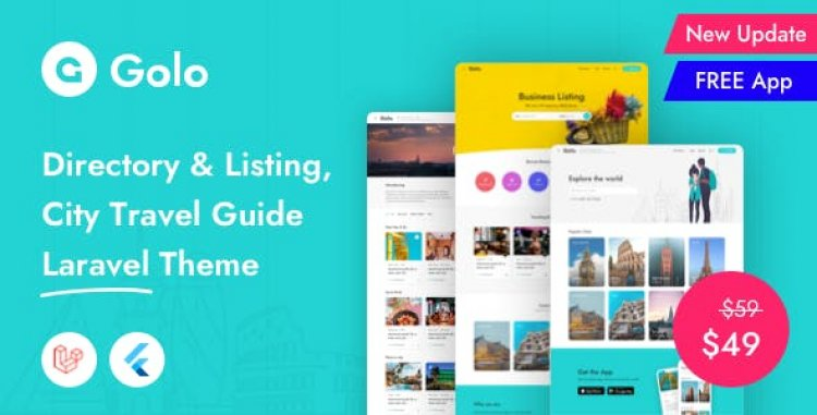 Golo v1.3.9 - Directory & Listing, City Travel Guide Laravel Theme