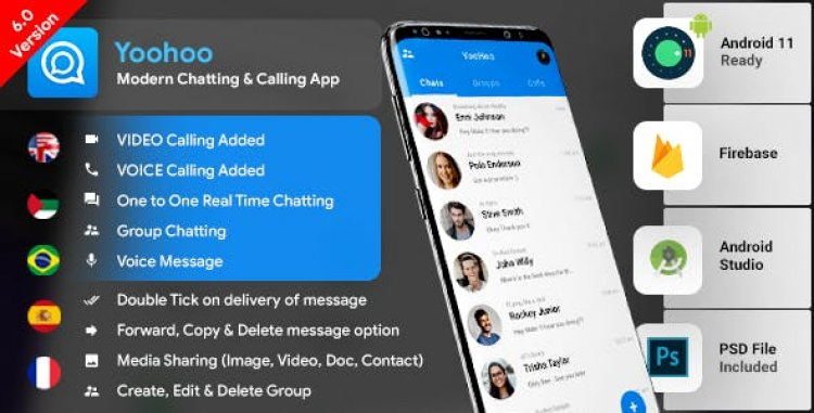 Android Chatting App v6.4 with Voice/Video Calls, Voice messages + Groups -Firebase   Complete App YooHoo