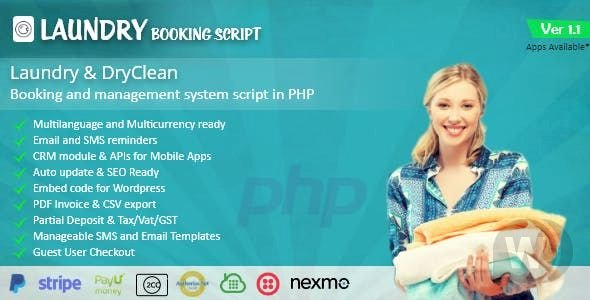 Laundry v1 0 - laundry booking and management script - Da
